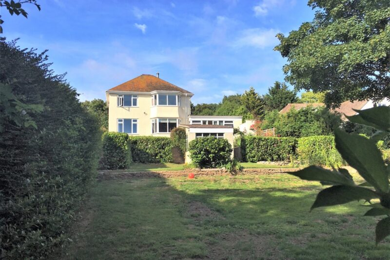 Looking towards the spacious detached house