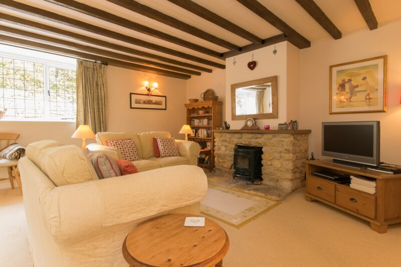 Cosy up in the living room with the lovely woodburner